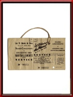 Vintage Le Mans Ticket Stubs