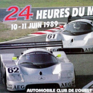 Vintage Original 1989 24 Hours of Le Mans Poster