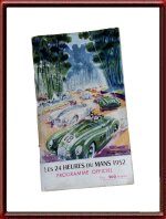 Vintage 1952 24 Hours of Le Mans Program Booklet