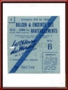 Vintage 1959 24 Hours of Le Mans Entry Ticket Stub for the Balcony and Pits Area