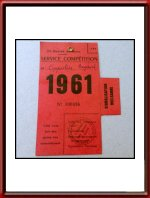 Vintage 1961 24 Hours of Le Mans Mulsanne Signaling Post Ticket Stub