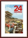 Vintage Original 1967 24 Hours of Le Mans Poster