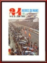 Vintage Original 1969 24 Hours of Le Mans Poster