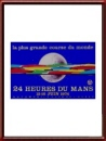 Vintage Original 1974 24 Hours of Le Mans Poster
