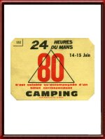 Original 1980 24 Hours of Le Mans Camping Re-Entry Ticket