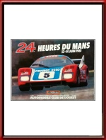 Vintage Original 1981 24 Hours of Le Mans Poster